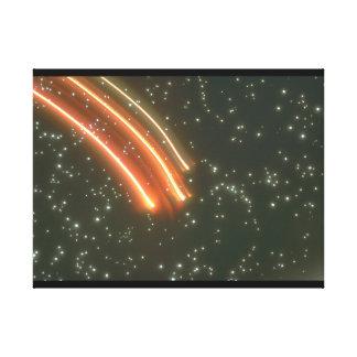 軽い縞。 (ライト; streak_Space場面 キャンバスプリント