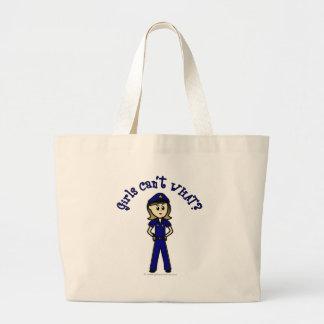 軽い警官の女の子 ラージトートバッグ