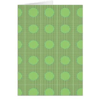 軽い陰の緑の点のテーマ カード