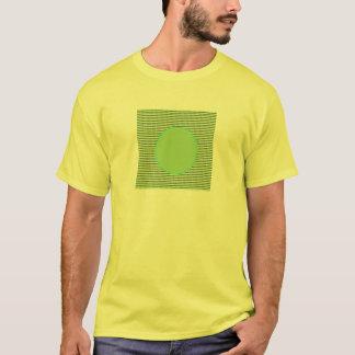 軽い陰の緑の点のテーマ Tシャツ
