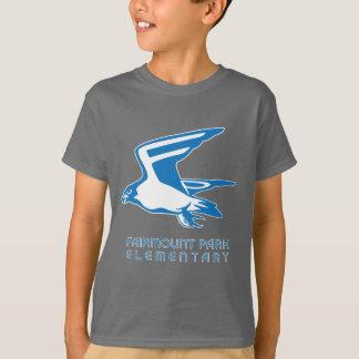 軽い《鳥》ハヤブサのグラフィックが付いている暗い《鳥》ハヤブサのティー Tシャツ