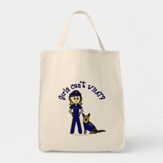 軽いK9警察の女の子 トートバッグ