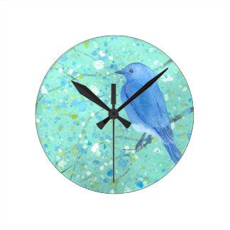軽く、敏感なブルーバード ラウンド壁時計