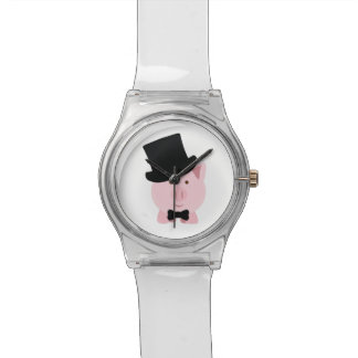 軽快なブタ 腕時計
