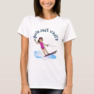 軽水のスキーヤーの女の子 Tシャツ