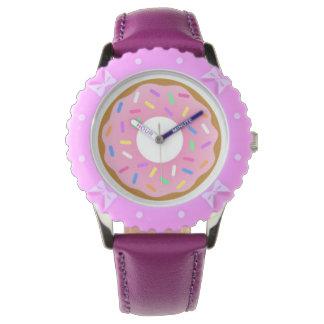 軽食の時間! おもしろいドーナツ子供の腕時計 腕時計