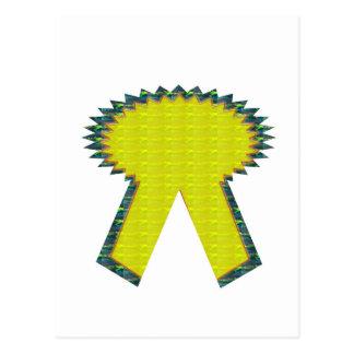 輝きのイエロー・ゴールドのリボン賞NVN283のゲストID ポストカード