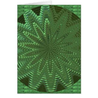 輝きのエメラルドグリーン: 花のチャクラの表示Deco カード