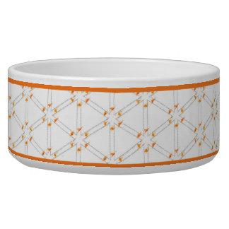 輝きのオレンジ 犬用ご飯皿