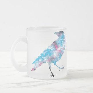 輝きのカラス フロストグラスマグカップ
