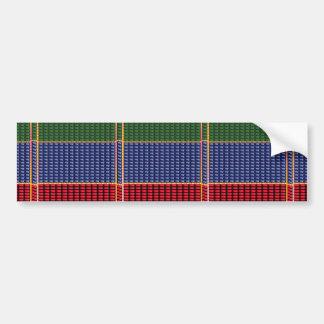 輝きのグリッターのデジタル紫系統の緑ボタンのギフト バンパーステッカー
