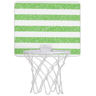 輝きのグリッターの一見のストライプの小型バスケットボールのゴール ミニバスケットボールゴール