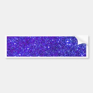 輝きのグリッターの夜空のStarfieldの濃紺の星 バンパーステッカー