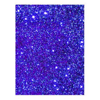 輝きのグリッターの夜空のStarfieldの濃紺の星 ポストカード