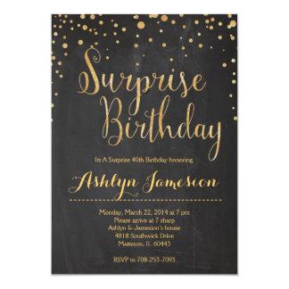 輝きのグリッターの驚きの誕生日の招待状 カード