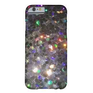輝きのグリッターの黒のホログラムの携帯電話の箱 BARELY THERE iPhone 6 ケース