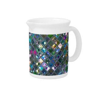輝きのタイルの多彩の2つのプリントの水差し ピッチャー