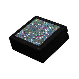 輝きのタイル多彩の2は蝶番を付けられるギフト用の箱を印刷します ギフトボックス