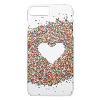輝きのハートのデザインの電話カバー iPhone 8 PLUS/7 PLUSケース