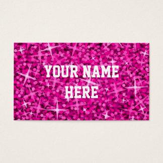 輝きのピンクの名刺のテンプレート 名刺