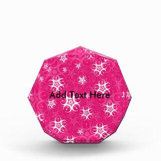 輝きのピンクの白い穀物の円 表彰盾