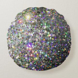 輝きのホログラムの円形の装飾用クッション! ラウンドクッション