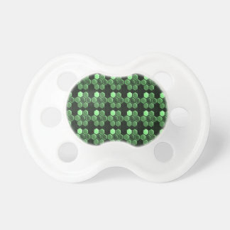 輝きの六角形のエメラルドグリーンパターンNVN289ギフト おしゃぶり