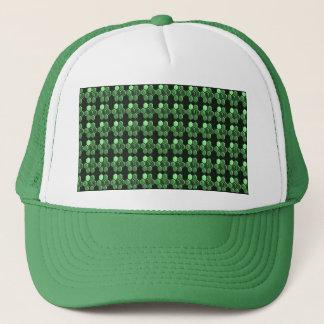 輝きの六角形のエメラルドグリーンパターンNVN289ギフト キャップ