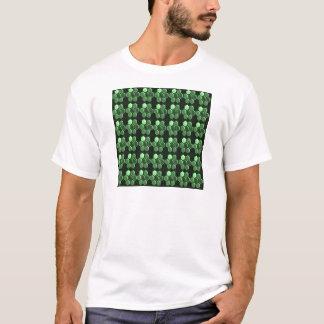 輝きの六角形のエメラルドグリーンパターンNVN289ギフト Tシャツ