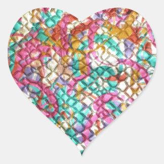輝きの宝石のスパンコールの緑のピンクはカスタマイズ ハートシール