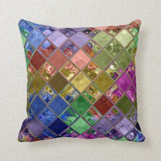 輝きの宝石のモザイク芸術は~の家の装飾のギフトを置きます クッション