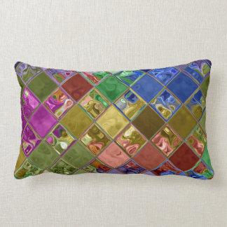 輝きの宝石のモザイク芸術は~の家の装飾のギフトを置きます ランバークッション