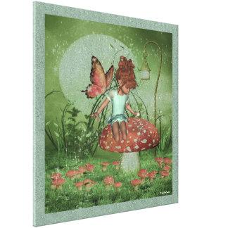 輝きの小妖精や小人の幼児の妖精の国のKatieのキャンバスプリント キャンバスプリント