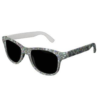 輝きの暗いホログラムのグリッターのサングラス! サングラス