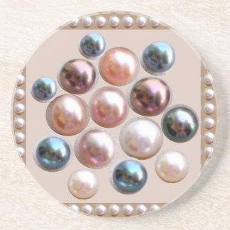 輝きの真珠の宝石 コースター
