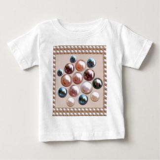 輝きの真珠の宝石 ベビーTシャツ