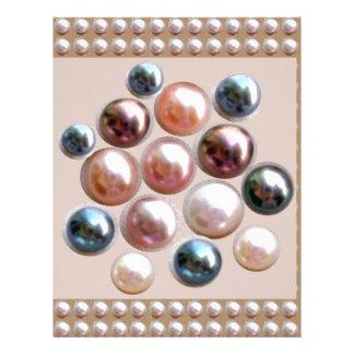 輝きの真珠の宝石 レターヘッド