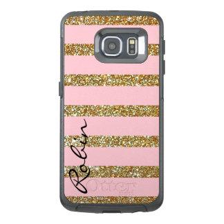 輝きの金ゴールドおよびピンクのオッターボックスのSamsung S6の端の場合 オッターボックスSamsung Galaxy S6 Edgeケース