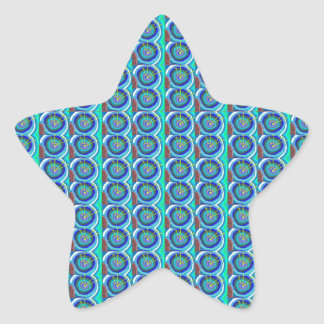輝きのBlueStar青いディスク: 低価格NAVIN JOSHIによって 星シール