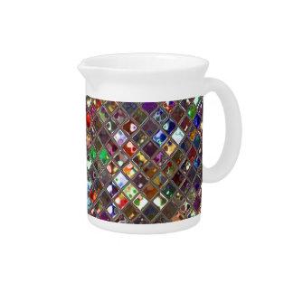 輝きは多彩のプリントの水差しをタイルを張ります ピッチャー
