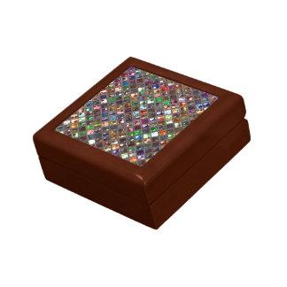 輝きは蝶番を付けられる多彩のプリントのギフト用の箱をタイルを張ります ギフトボックス