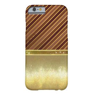 輝きバンド金ゴールドのデザインの細い薬莢 BARELY THERE iPhone 6 ケース