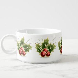輝くなヒイラギの果実のクリスマスパターン チリボウル