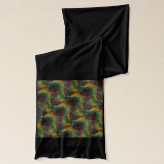 輝くなレーザー光線写真虹ライトグリッターの波 スカーフ