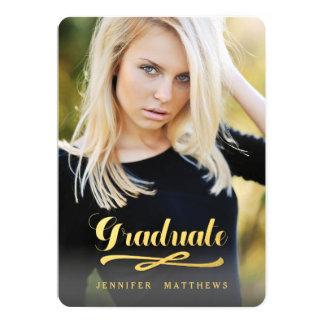輝くな卒業生 の写真の卒業パーティー 12.7 X 17.8 インビテーションカード