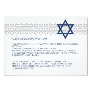 輝くな星のバーの(ユダヤ教の)バル・ミツバーの青いエンクロージャカード カード