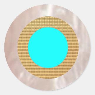 輝くな銀、金nの青の装飾 ラウンドシール