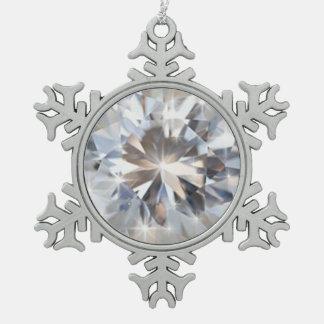 輝やきによって円形にされるダイヤモンド スノーフレークピューターオーナメント