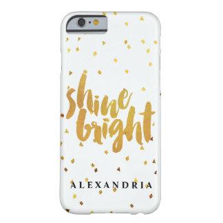 輝やきの明るい金ゴールドの紙吹雪 BARELY THERE iPhone 6 ケース