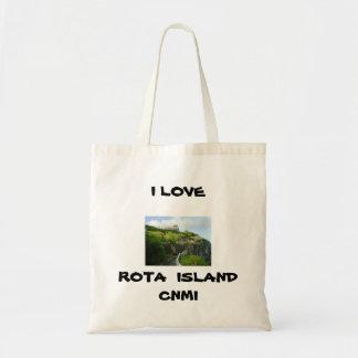 輪番名簿の島のバッグ トートバッグ